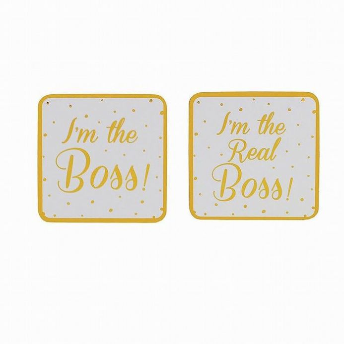 Boss Gold Edition Set of 2 Coasters